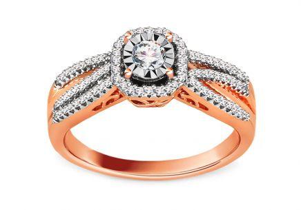 Briliantový zásnubný prsteň z ružového zlata 0.320 ct ... 1d55228ff93