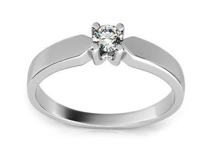 748f7a711 Diamantová zásnubný prsteň 0.100 ct z bieleho zlata ...