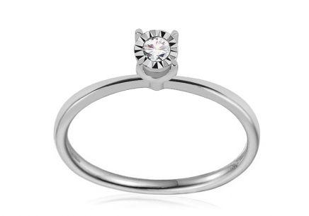 65dbcd8e7 Zásnubné prstene z bieleho zlata, Skladom, Lux, One love | iZlato.sk
