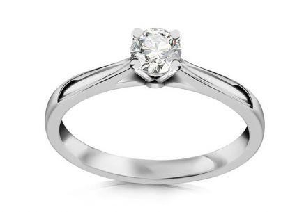 Zásnubný prsteň s 0.211ct ct Si2 E diamantom Estelle large white ... be883f2c452