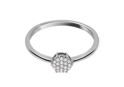 ... Zásnubný prsteň z bieleho zlata s diamantmi 0.050 ct Aistin 74480261a33