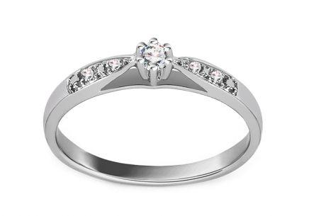 5f11ef95f Zásnubný prsteň z bieleho zlata s diamantmi 0.070 ct Odelia ...