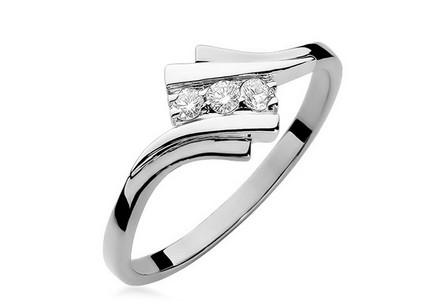 Zlatý prsteň s diamantmi Clementine white ... 0ddba76a47c