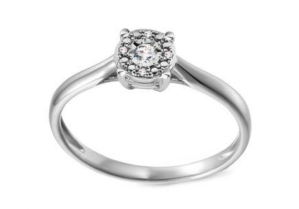 Zlatý zásnubný prsteň s diamantmi 0.030 ct Adalira ... 60724badcbf