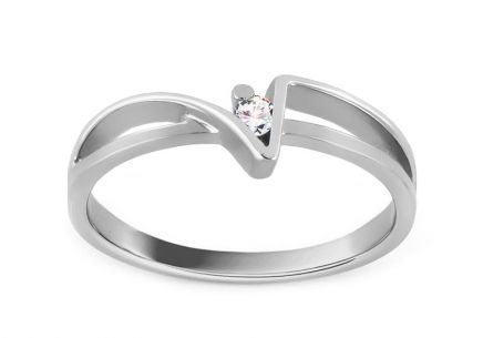 Zásnubný prsteň Of love s briliantom 0,030 ct white