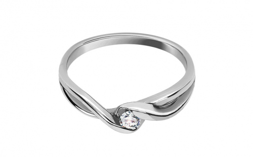 Zásnubný prsteň s 0,080 ct briliantom Loving moments white - CSBR2086A