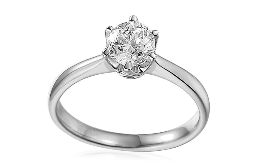 Zásnubný prsteň s 1.010 ct IGI diamantom Donna z bieleho zlata 2859da3f312