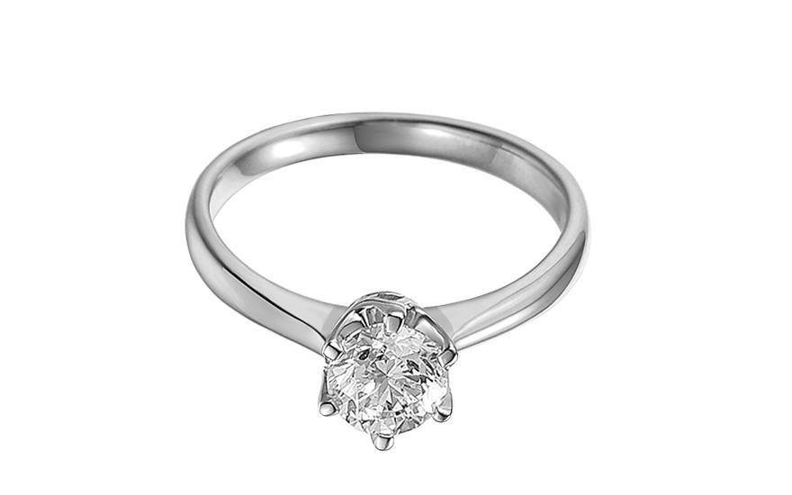 Zásnubný prsteň s 1.010 ct IGI diamantom Donna z bieleho zlata 716461a713d