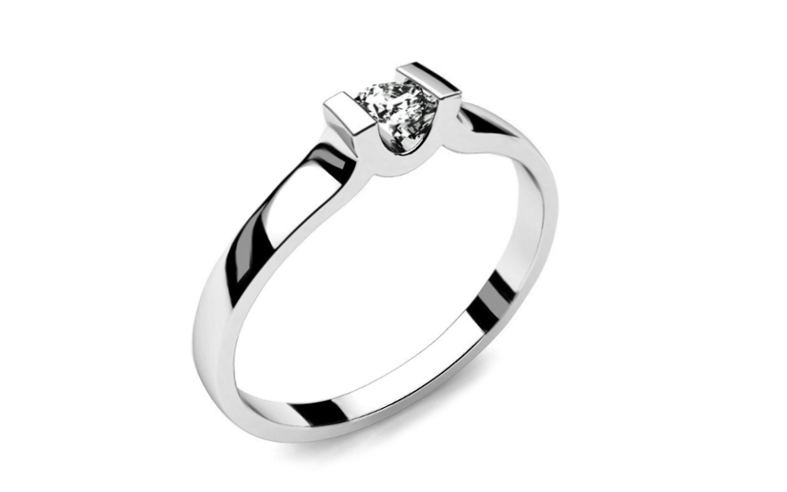 Zásnubný prsteň s 0,090 ct diamantom Power Of Love 1