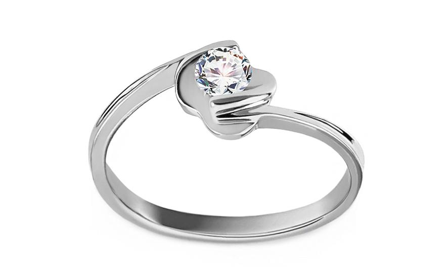 19ab6a10f Zásnubný prsteň s 0,170 ct diamantom Adriana Rose, pre ženy (KU255 ...