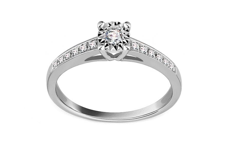 9ae47ab9b Zásnubný prsteň z bieleho zlata s diamantmi 0.100 ct Addae, pre ženy ...