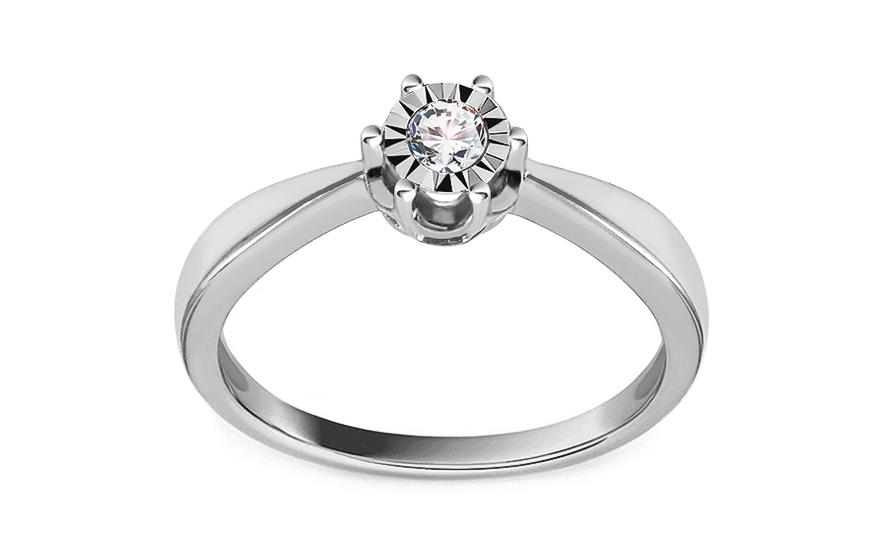 Zásnubný prsteň z bieleho zlata s diamantmi 0.100 ct Wynona 2 68bd78d3c7c