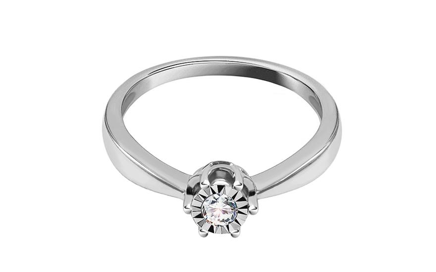 6797e263c Zásnubný prsteň z bieleho zlata s diamantmi 0.100 ct Wynona 2 - ROYBR083AM