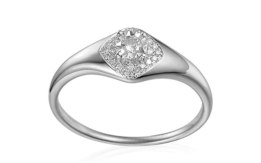Zásnubný prsteň z bieleho zlata s diamantmi 0.160 ct Aidene 2 32c2739c36b