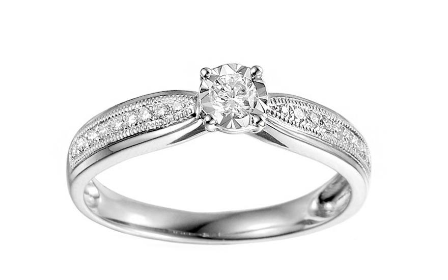 Zásnubný prsteň z bieleho zlata s diamantmi 0.240 ct Maya 2 1dd3087ee05