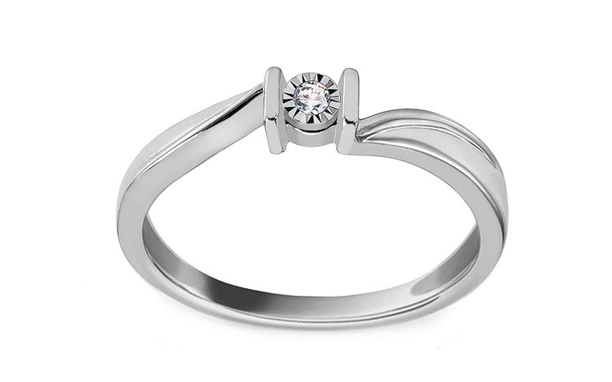 48542ffab Zásnubný prsteň z bieleho zlata s diamantom 0.020 ct Sheila 2 - KU0003AM