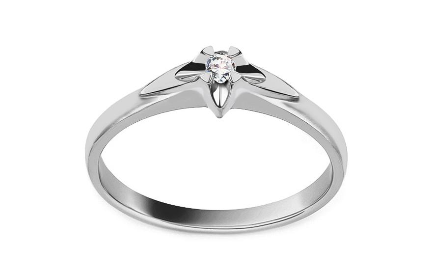 f0e7f2bba Zásnubný prsteň z bieleho zlata s diamantom 0.040 ct kolekcia Always -  BSBR012AM