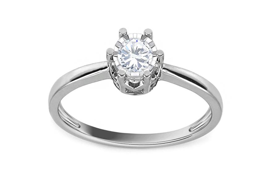 627b5a150 Zásnubný prsteň z bieleho zlata s diamantom 0.200 ct Bianca - KU540A