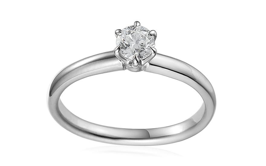 8354e93e6 Zásnubný prsteň z bieleho zlata s diamantom 0.500 ct Caissa - IZBR580A