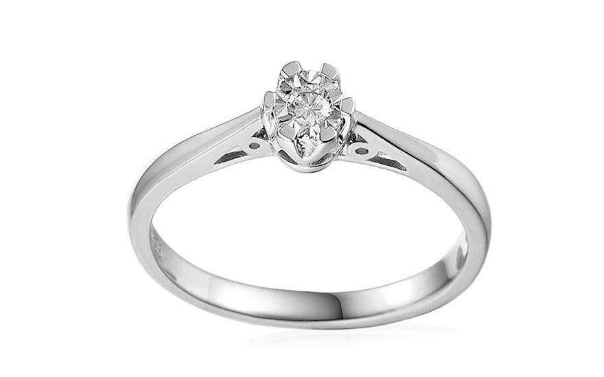19dc762d8 Zásnubný prsteň z bieleho zlata s diamantom Adalie 2, pre ženy ...