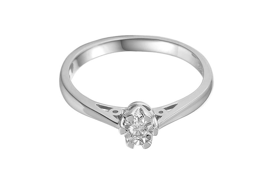 c0826c8ad Zásnubný prsteň z bieleho zlata s diamantom Adalie 2, pre ženy ...