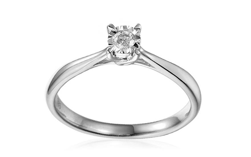 b4898c031 Zásnubný prsteň z bieleho zlata s diamantom Vianne, pre ženy ...