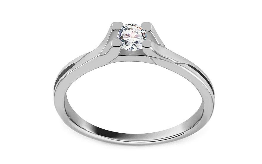 Zásnubný prsteň z bieleho zlata so zirkónom Grace 5 610a3fd3b61