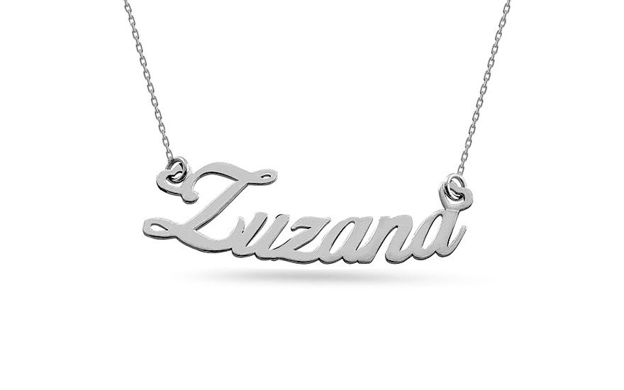 598759df0 Zlatá biela retiazka s menom Zuzana, pre ženy (IZ7587A)   iZlato.sk