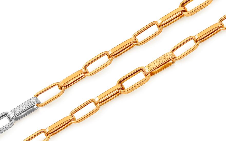0503c6650 Zlatá dvojfarebná retiazka s antickým vzorom, pre mužov (IZ16146 ...