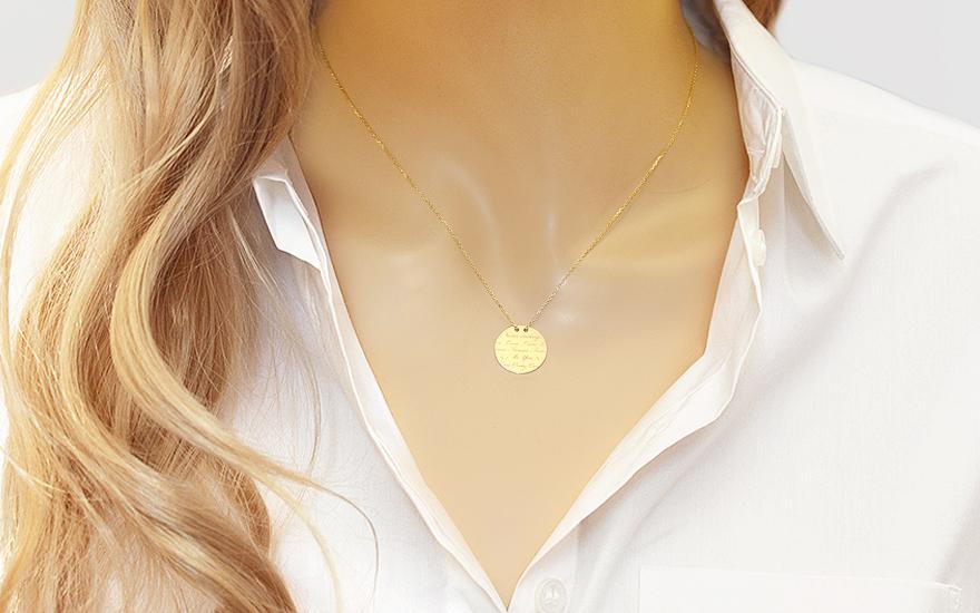 e5f5a2d56 Zlatá retiazka s medailónom Forever Love Celebrity, pre ženy (IZ8077 ...