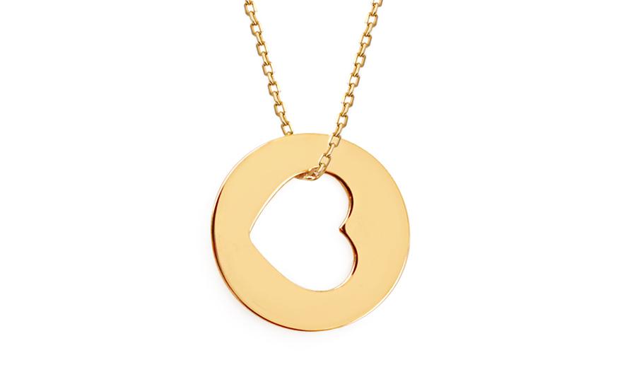 16b12d9bc Zlatá retiazka s príveskom Heart 2 Celebrity, pre ženy (IZ7077 ...