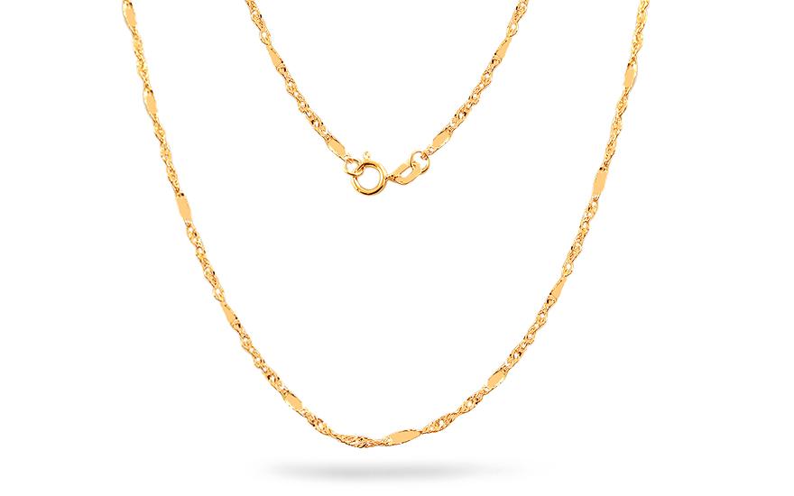 5185c0b6b Zlatá retiazka Singapur 1,5 mm, pre ženy (IZ18582) | iZlato.sk