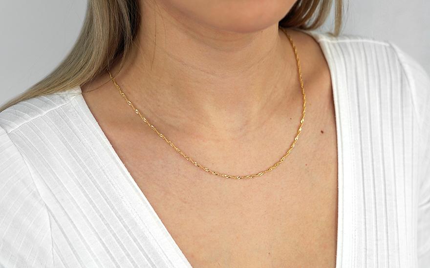 88b10a6cb Zlatá retiazka Singapur 1,7 mm, pre ženy (IZ17893) | iZlato.sk