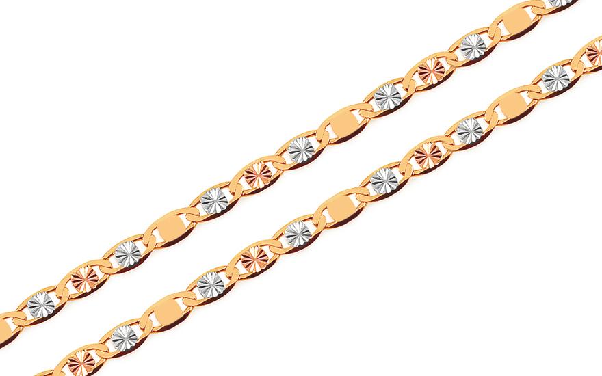 0a71c9bc3 Zlatá trojfarebná retiazka Continuous patterns 2 mm, pre ženy ...