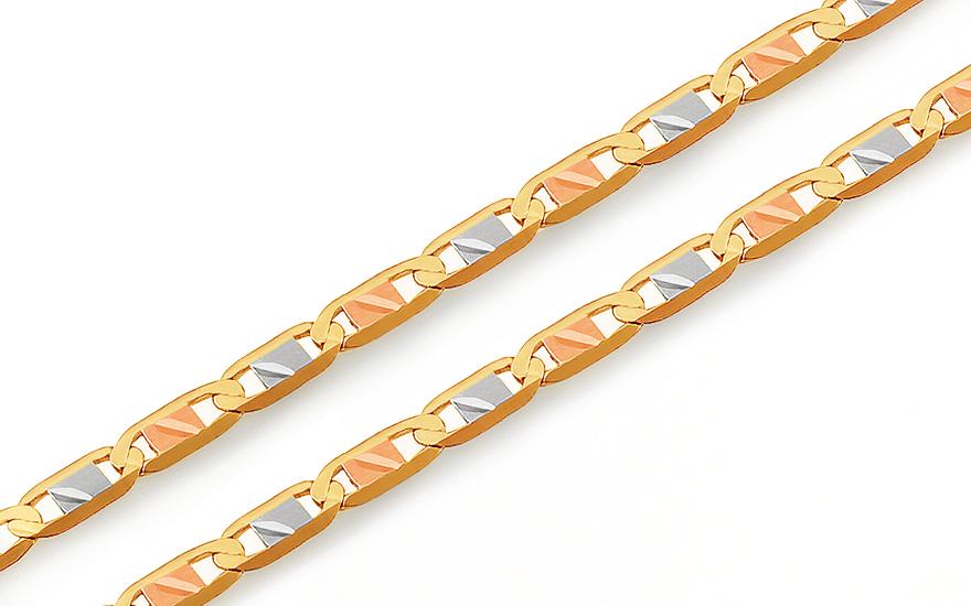 6df96822f Zlatá trojfarebná retiazka Valentino s gravírom 2 mm, pre ženy ...