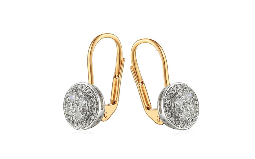 3d6d3a55a Zlaté briliantové náušnice 0.380 ct, pre ženy (IZBR688)   iZlato.sk