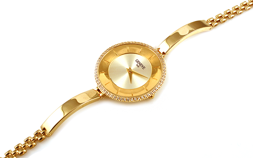 e77badb7fa Zlaté dámske hodinky Geneve - IZ9944
