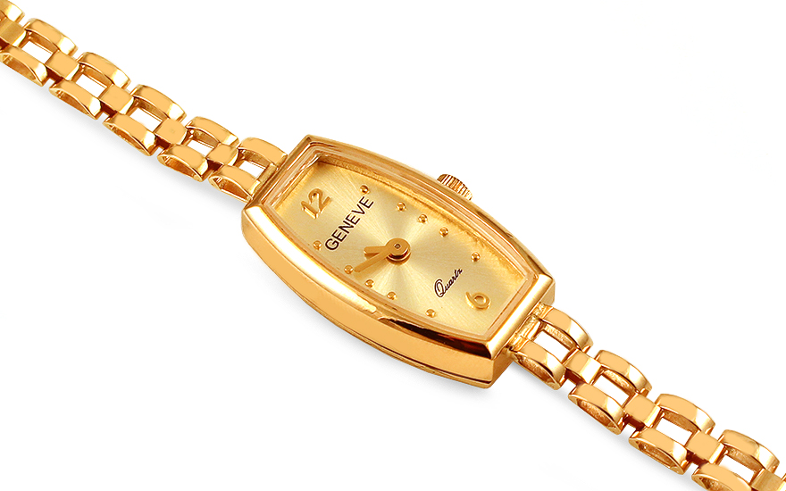 1bc93962b8 Zlaté dámske hodinky Geneve - IZ14402