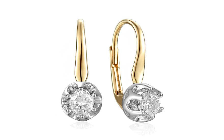 ee3e13548 Zlaté kombinované náušnice s diamantmi 0.300 ct Tegan, pre ženy ...