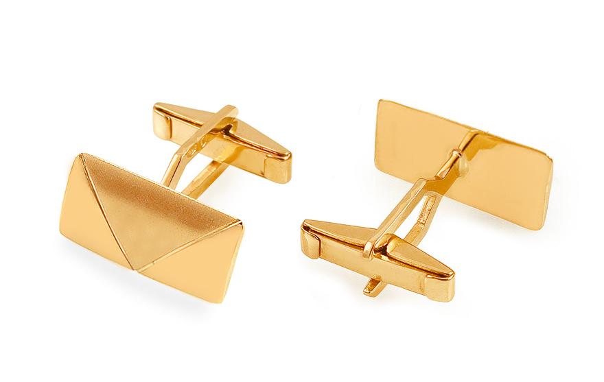 ccdedc95a679 Zlaté manžetové gombíky s matovaním - IZ13633