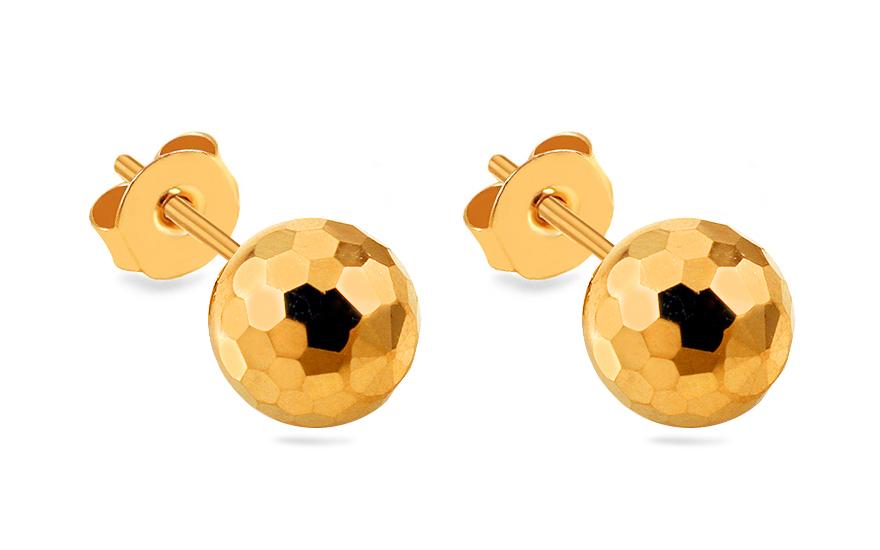 5cef42e56 Zlaté napichovacie náušnice guľky 10 mm, pre ženy (IZ10404) | iZlato.sk