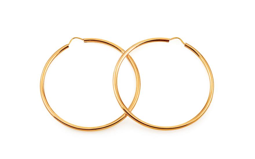 39cd8c53b Zlaté náušnice kruhy hladké 3,5 cm, pre ženy (IZ17304)   iZlato.sk
