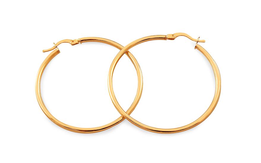 be0885379 Zlaté náušnice kruhy hladké 4,2 cm, pre ženy (IZ18287)   iZlato.sk