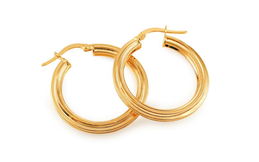 Zlaté náušnice kruhy s matovaním 2 b634f50891e