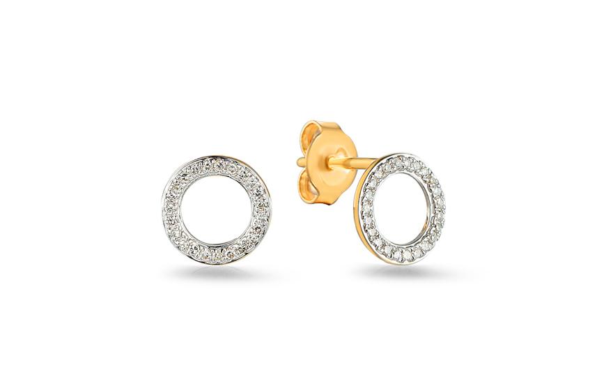 09a735e7f Zlaté náušnice s diamantmi 0.090 ct Fusain, pre ženy (IZBR536N ...