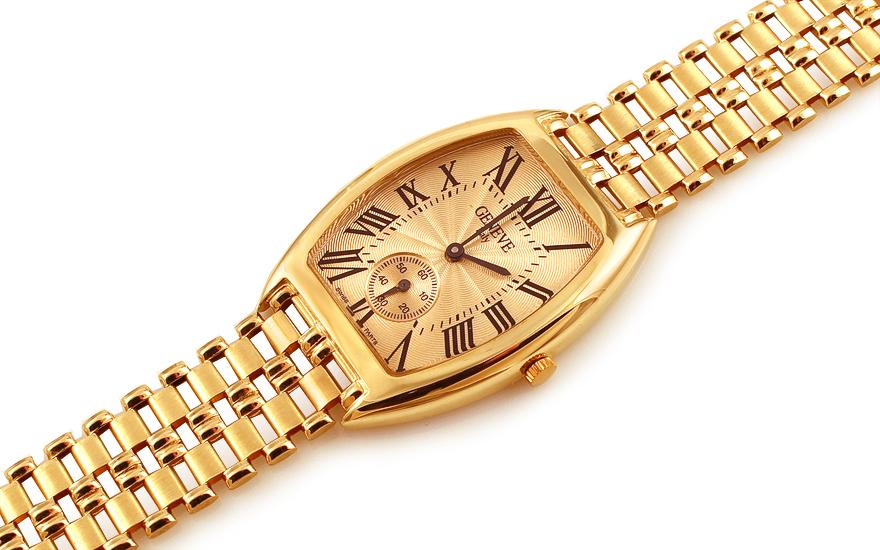 2061b524d Zlaté pánske hodinky Geneve, pre mužov (IZ12279) | iZlato.sk
