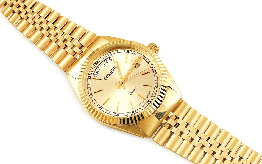 Zlaté pánske hodinky Geneve 58756bb9aae