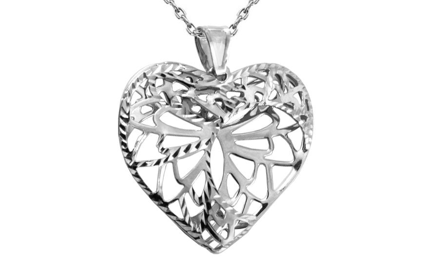 1401a7b0c Zlaté prívesok srdce, pre ženy (IZ8926A) | iZlato.sk