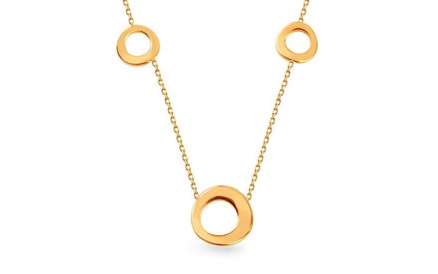 831ac8b5c Zlatý dámsky náhrdelník Krúžky, pre ženy (IZ15053) | iZlato.sk