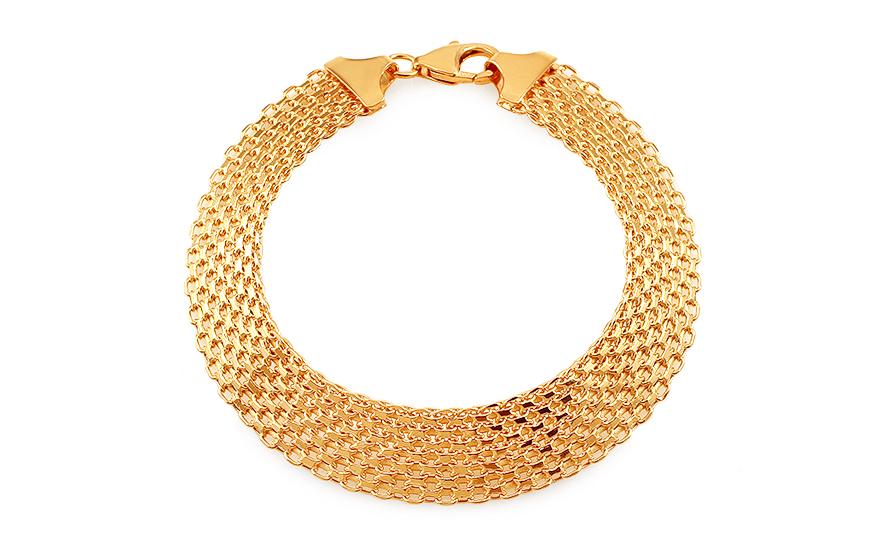 Zlatý dámsky náramok BISMARCK (IZ4816)  cfa5e411380